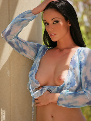 Hanging outside in blue top & pantys